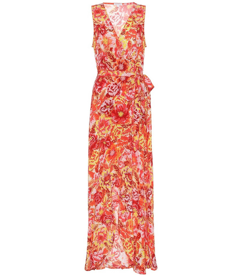 Poupette St Barth Printed maxi dress in orange