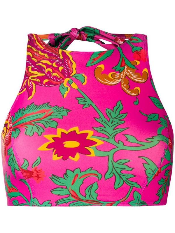 La Doublej swim halter top in pink
