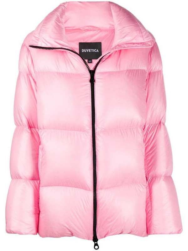 Duvetica high-neck puffer jacket in pink