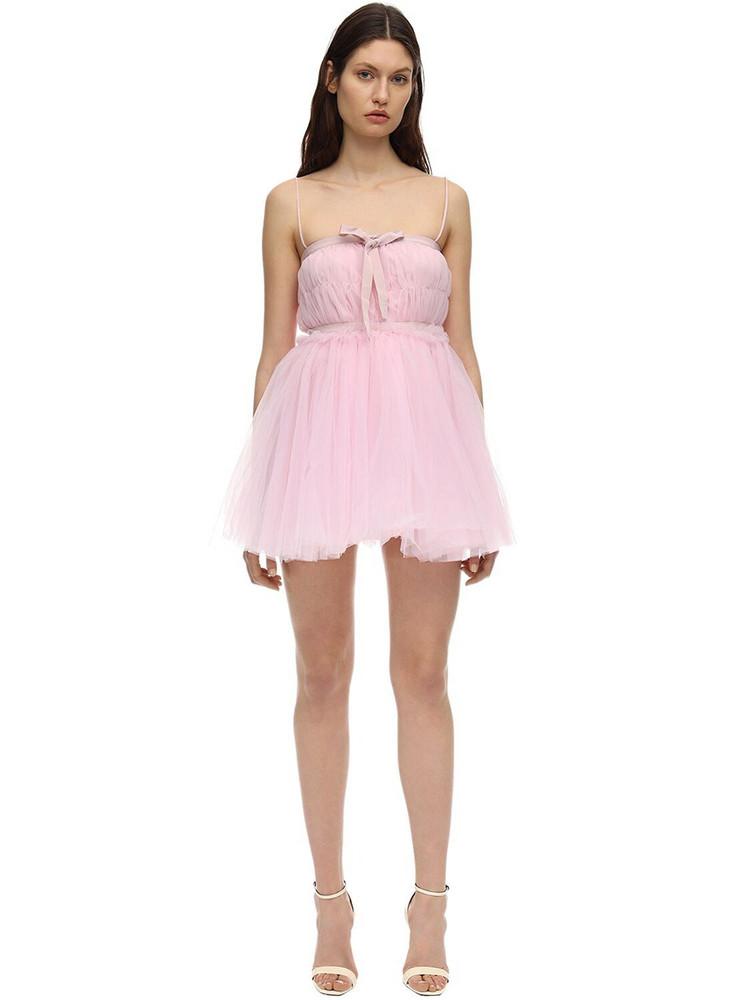 BROGNANO Tulle Mini Dress in pink