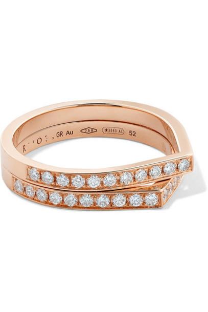 Repossi - Antifer 18-karat Rose Gold Diamond Ring