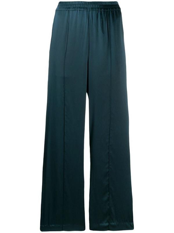 Katharine Hamnett London flared satin trousers in green