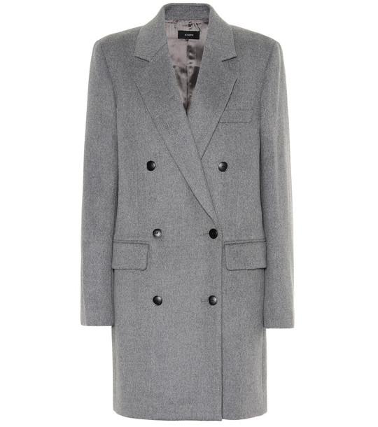 Joseph Elkins Wool-bend coat in grey