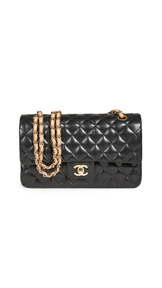 What Goes Around Comes Around Chanel Multi Lambskin Bag in black