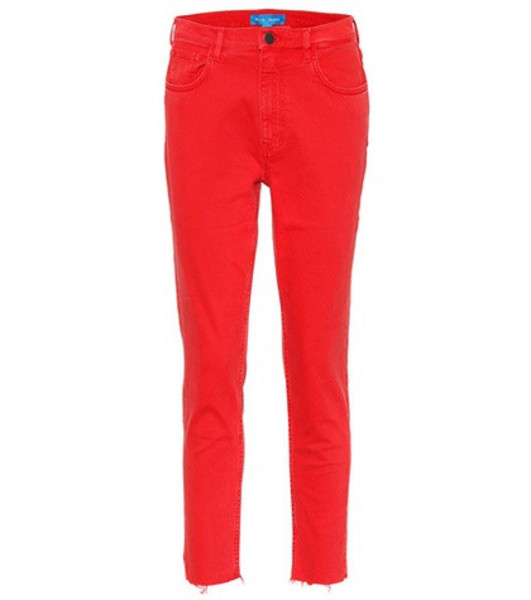 M.i.h Jeans Mimi high-rise skinny jeans in red