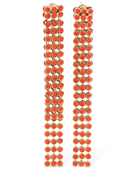 ETRO Pavé Crystal Double Earrings in red