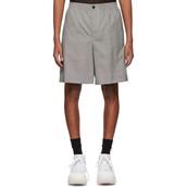 shorts,white,black,wool,houndstooth
