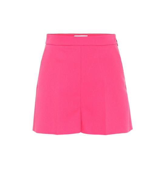 MSGM Crêpe shorts in pink