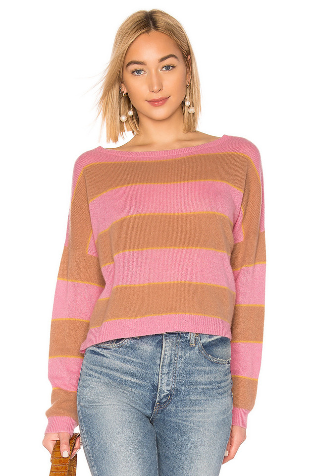 360CASHMERE X ROCKY BARNES Valery Sweater in pink