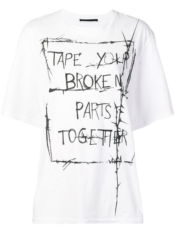Haider Ackermann oversized T-shirt in white