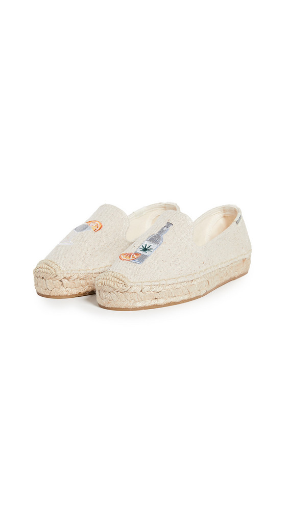 Soludos Agave Smoking Slippers in sand
