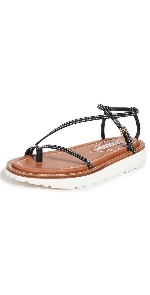 Zimmermann Skinny Strap Sandals in black