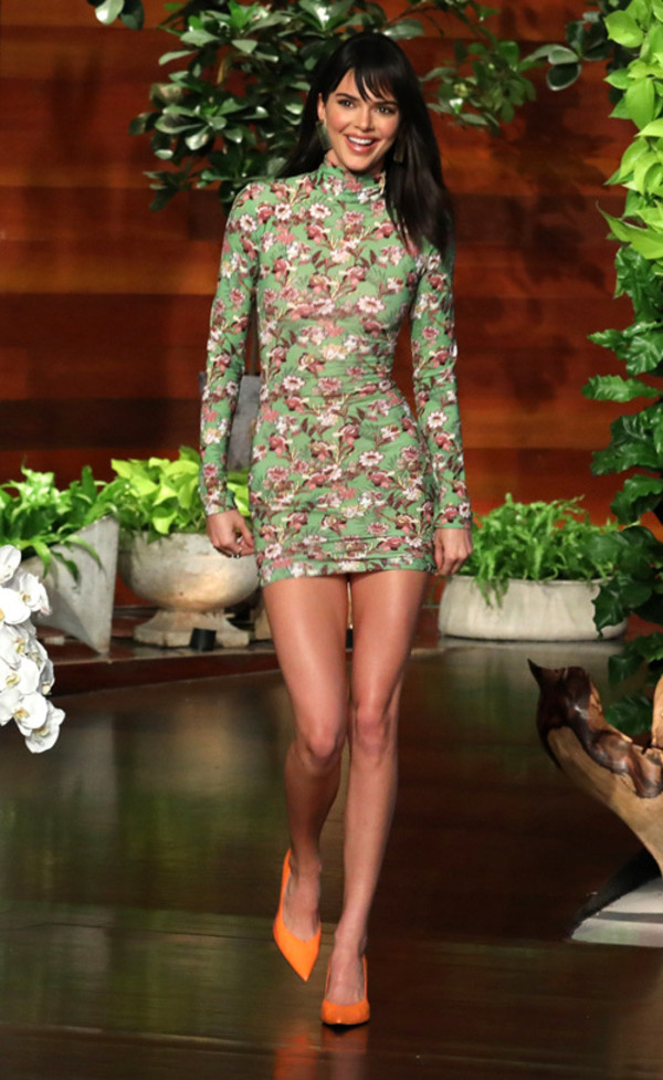 dress mini dress long sleeve dress kendall jenner kardashians bodycon dress floral floral dress