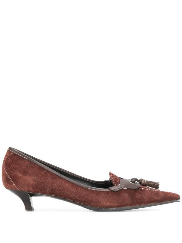 Miu Miu Pre-Owned pointed toe pumps in brown