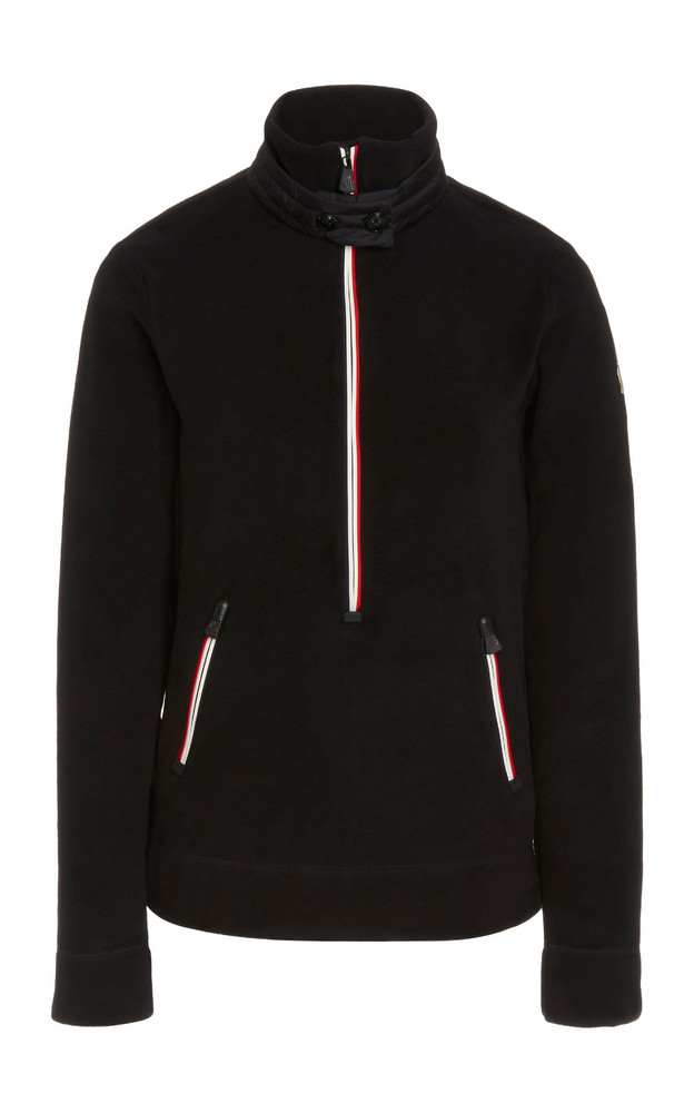 Moncler Grenoble Quilted Fleece Turtleneck Top in black