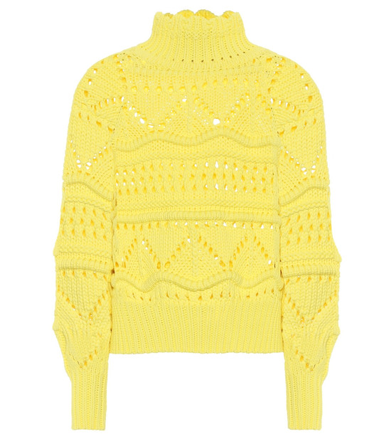 Isabel Marant, Étoile Naka cotton-blend sweater in yellow