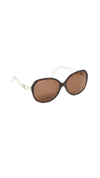 Balenciaga Inception Classic Sunglasses in brown / gold