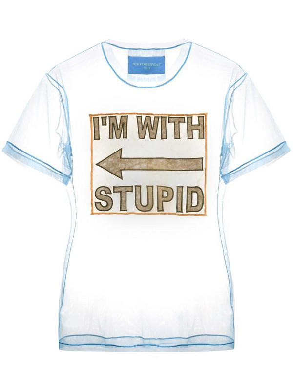 Viktor & Rolf I'm With Stupid T-shirt in blue