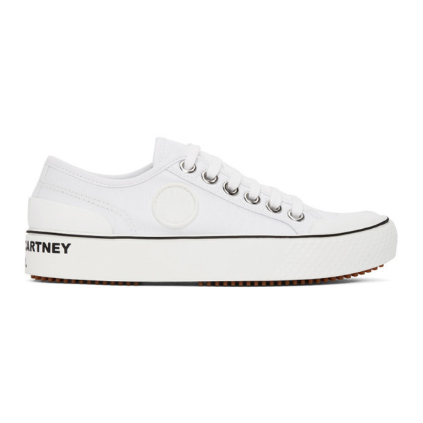 Stella McCartney White Canvas Sneakers
