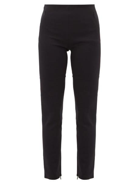 The Row - Corza Zipped Hem Scuba Trousers - Womens - Black