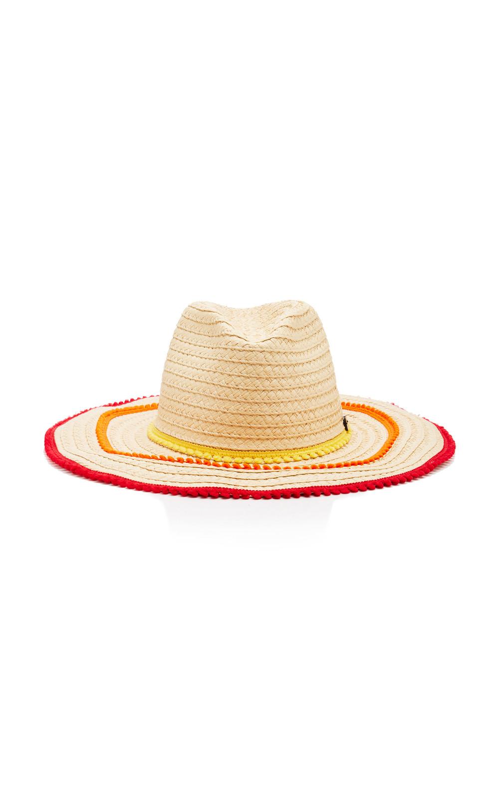 Filu Hats Batu Tara Picot-Trimmed Straw Hat in multi