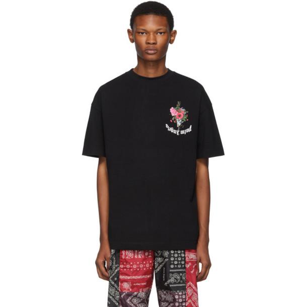 Palm Angels Black Flowers T-Shirt