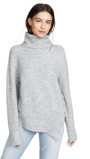 3.1 Phillip Lim Fringe Overlap Sweater in grey