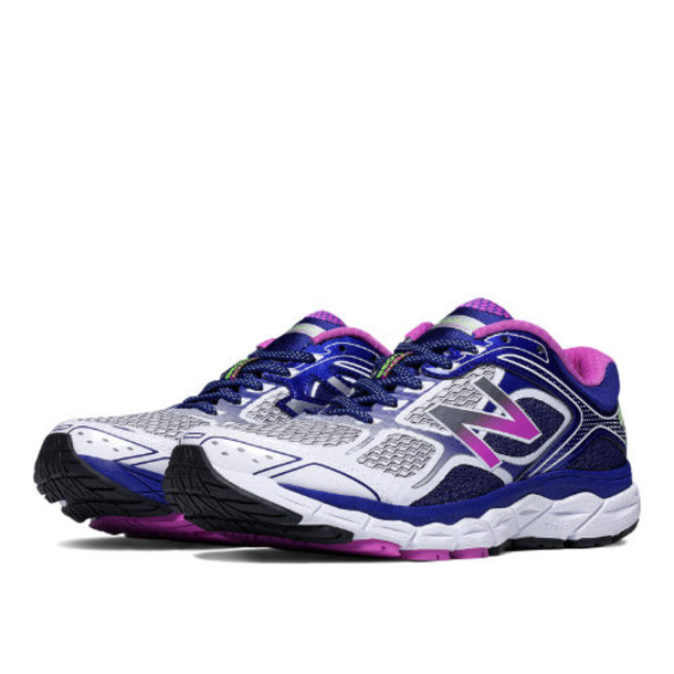 New Balance 860v6 Women's Recently Reduced Shoes - White/Purple/Black (W860WP6)