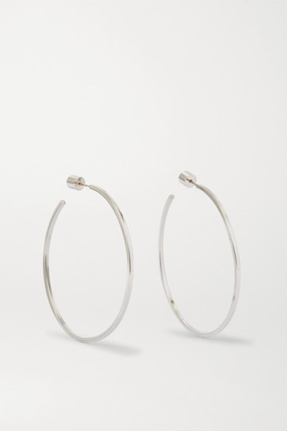Jennifer Fisher - Square Thread Silver-plated Hoop Earrings