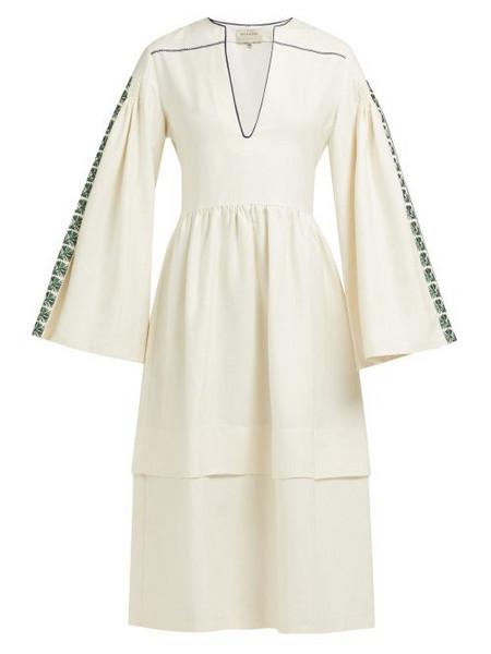 972f36b65e Zeus + Dione Zeus + Dione - Astypalaia Slubbed Silk Midi Dress - Womens -  Ivory