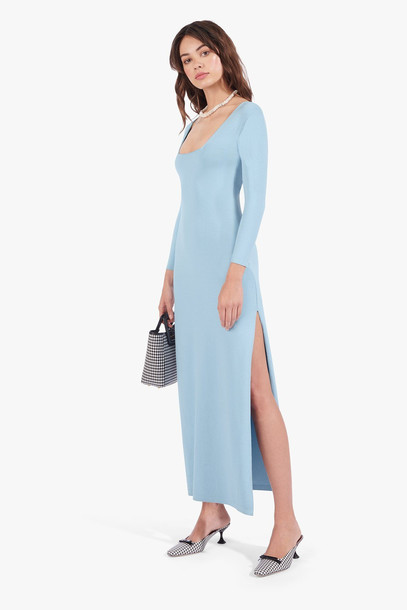 Staud CAROTA DRESS | DEW BLUE