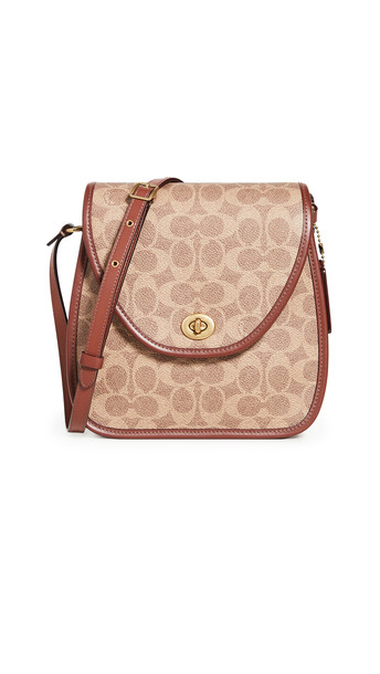 Coach 1941 Flap Square Pouch in tan