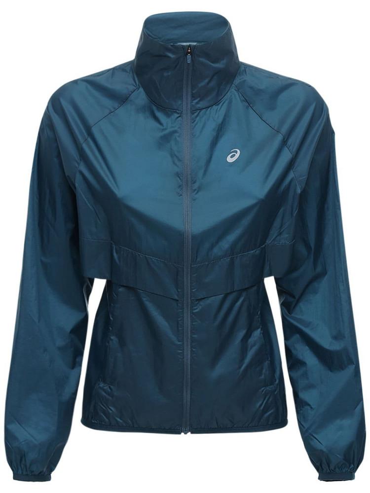 ASICS New Strong Nylon Jacket in blue