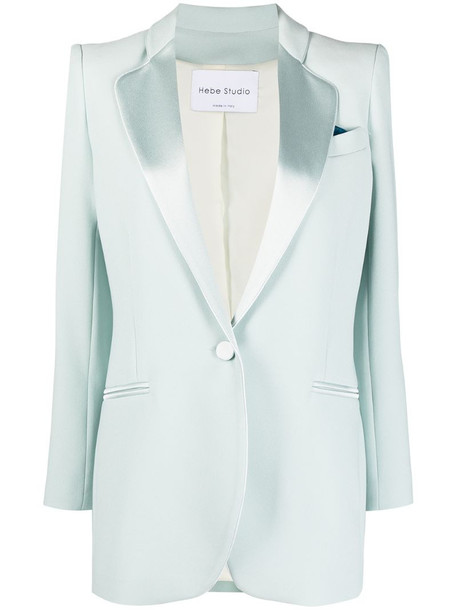 Hebe Studio single-breasted tailored jacket in green