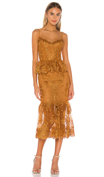 V. Chapman Orchid Dress in Burnt Orange