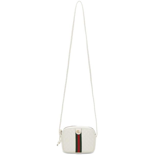 Gucci White Quilted Shoulder Bag