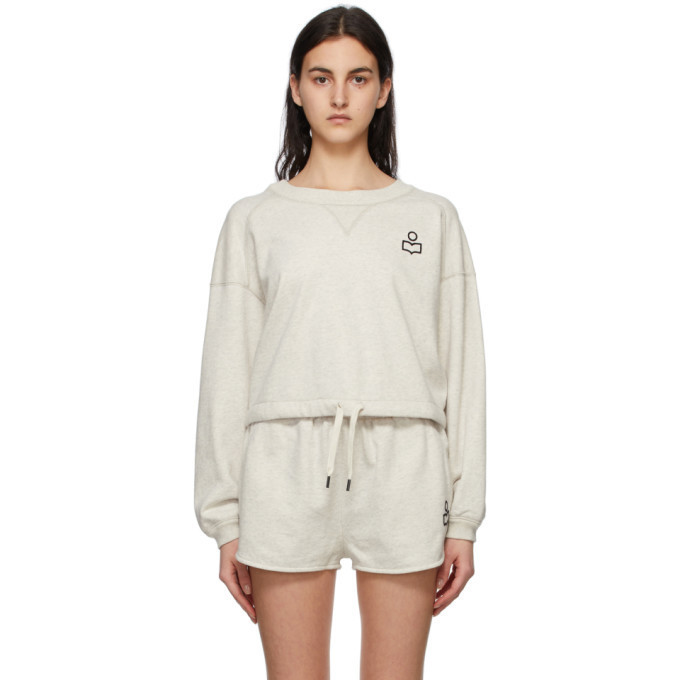 Isabel Marant Off-White Margo Sweatshirt in ecru