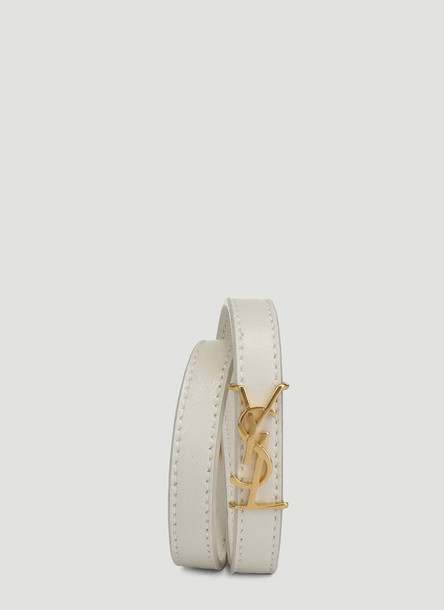 Saint Laurent Bracelet in White size S