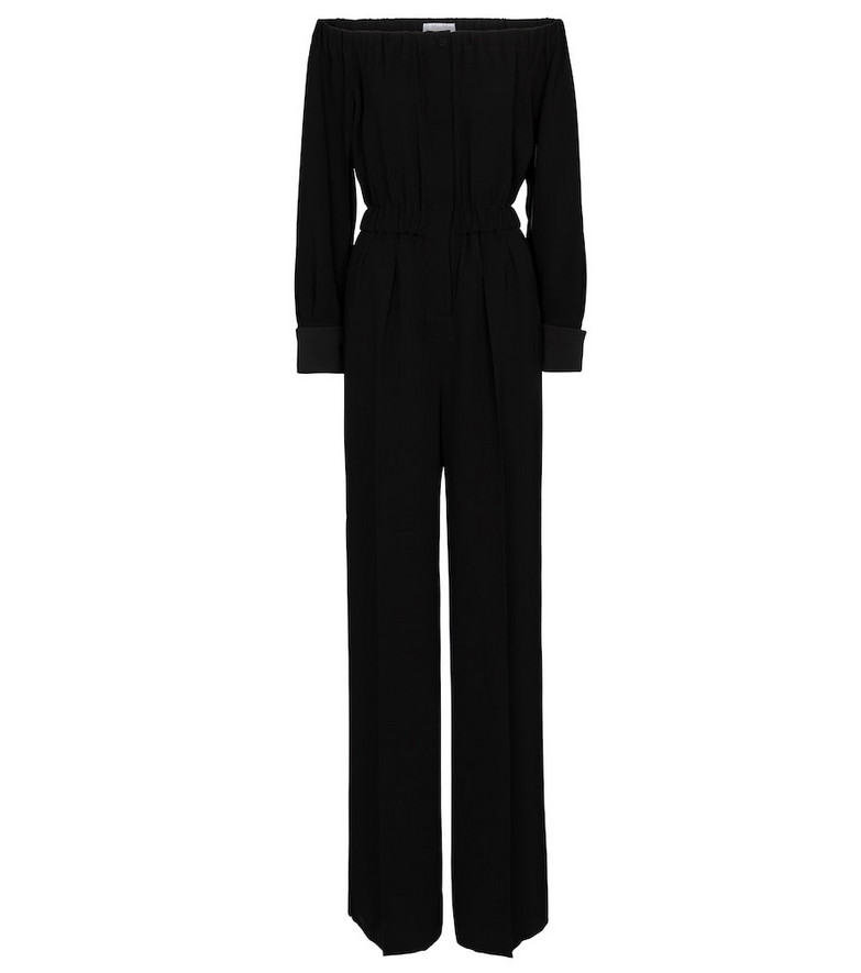 Max Mara Asiago off-shoulder jumpsuit in black
