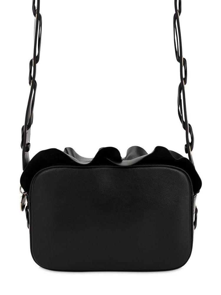 RED V Rock Ruffle Leather Camera Bag in black