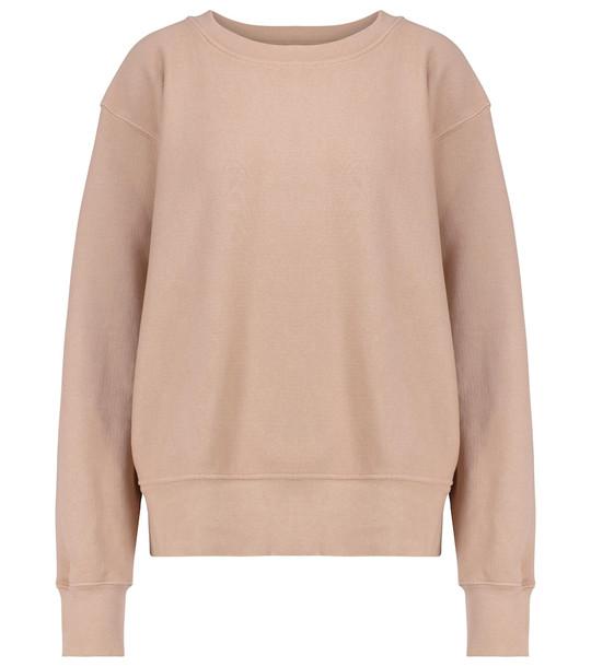 Les Tien Cotton fleece sweatshirt in pink