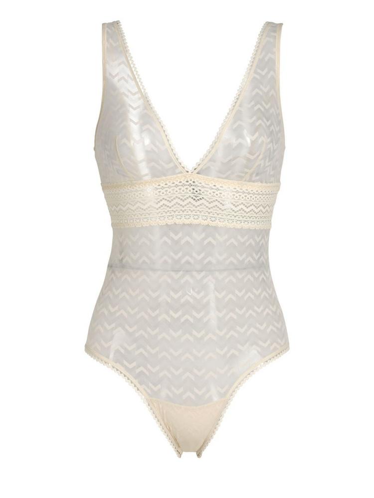 ELSE Boomerang Ii Mesh Soft Cup Bodysuit in white