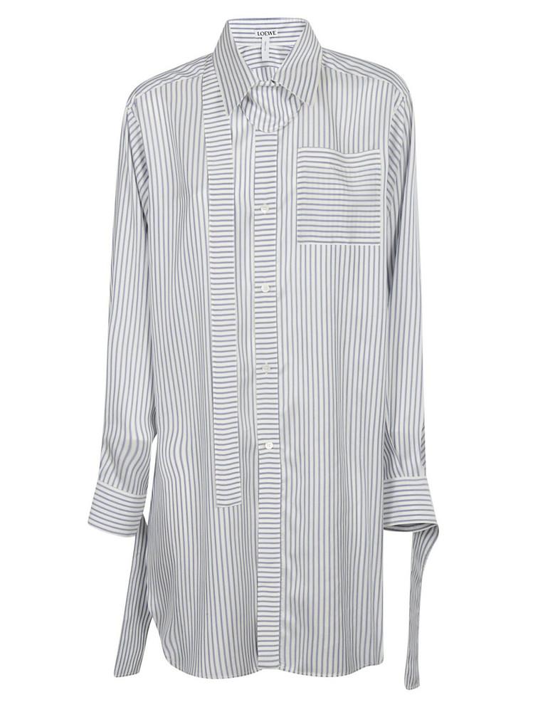 Loewe Striped Shirt in blue / white