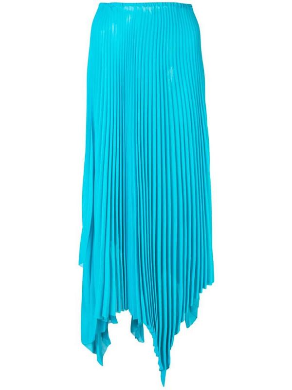 Marques'Almeida asymmetric pleated skirt in blue