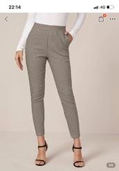 pants,check,plaidtrousers,plaid,skinny pants