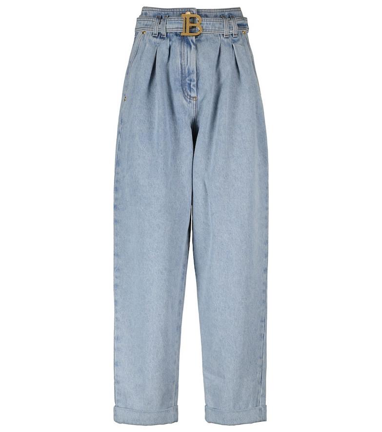 Balmain High-rise boyfriend jeans in blue