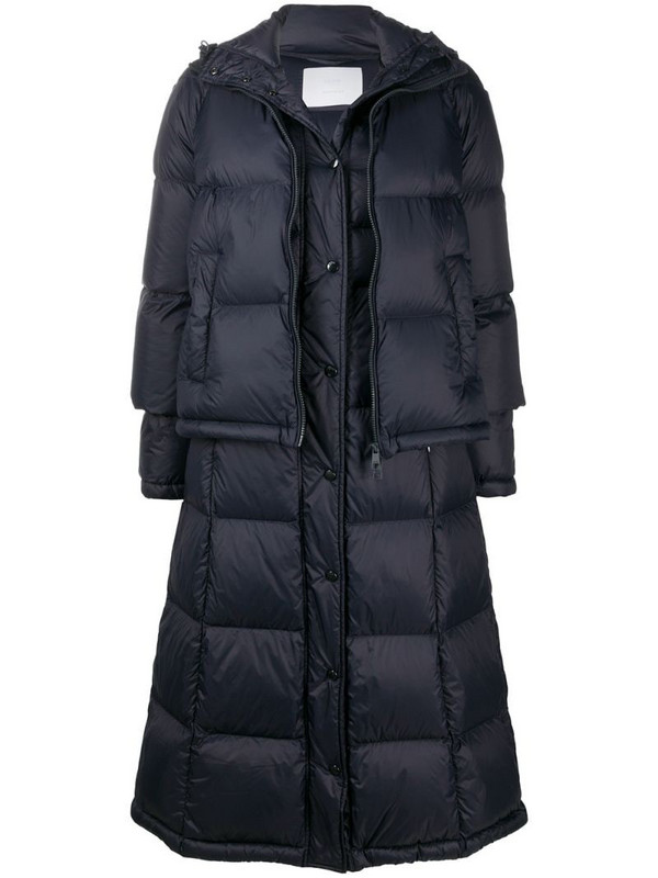 BOSS padded jacket with detachable length in blue