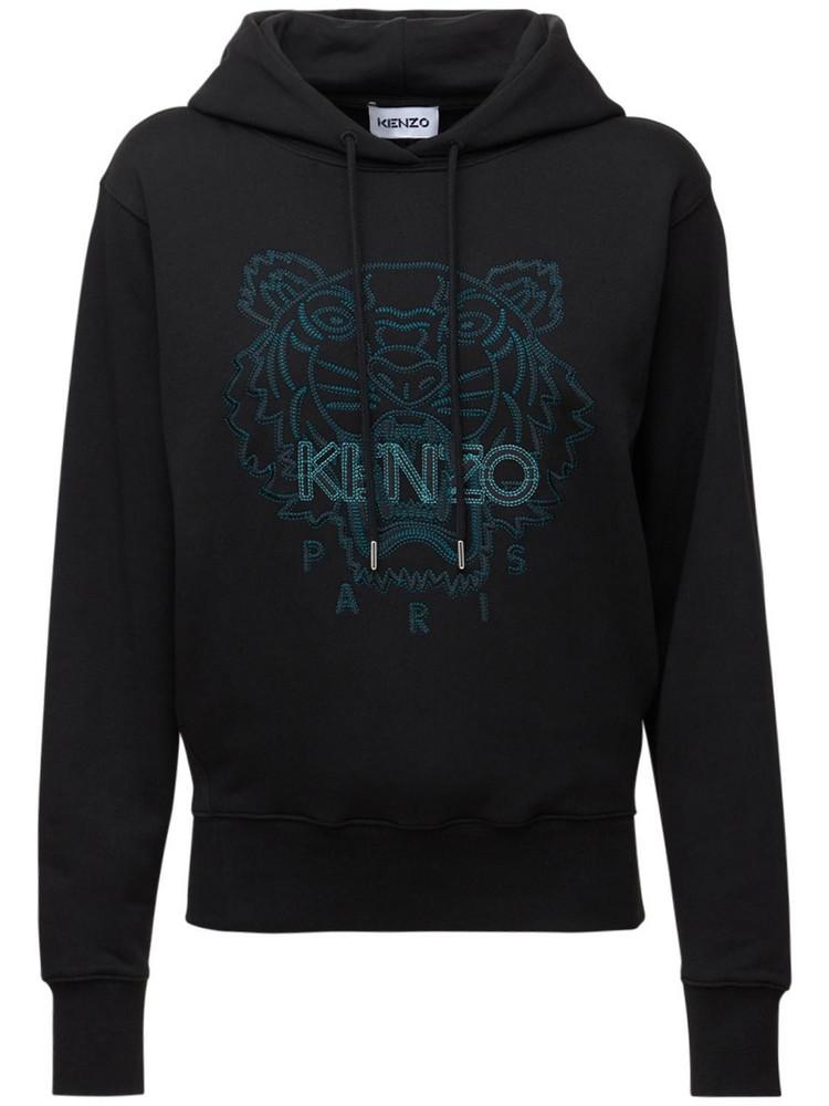 KENZO Embroidered Tiger Cotton Sweatshirt in black