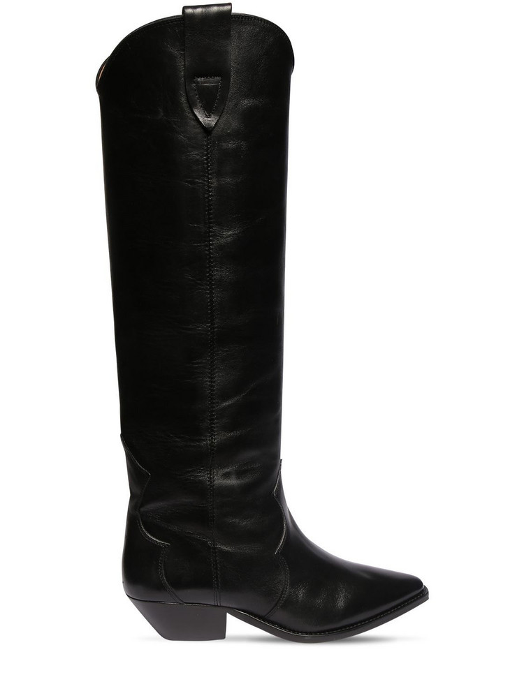 ISABEL MARANT 40mm Denvee Leather Tall Boots in black