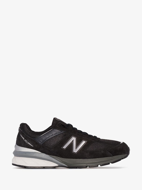 New Balance black m990 suede and mesh low top sneakers